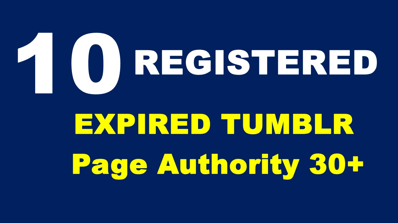 Register 10 Expired Tumblr PA 30 plus