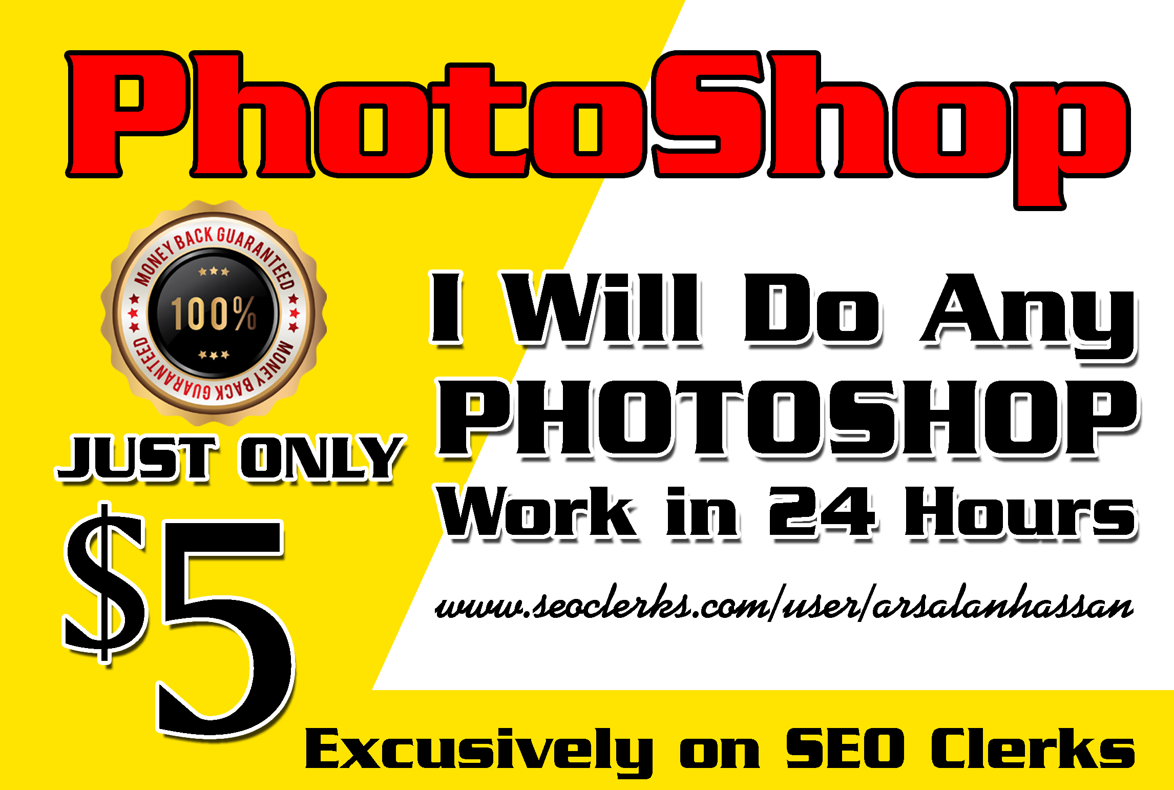 Do any photoshop work in 24 hours