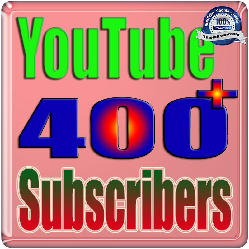We Will Add 400+ YouTube Subscribers or Likes or Views Real Safe & Non Drop and Fast