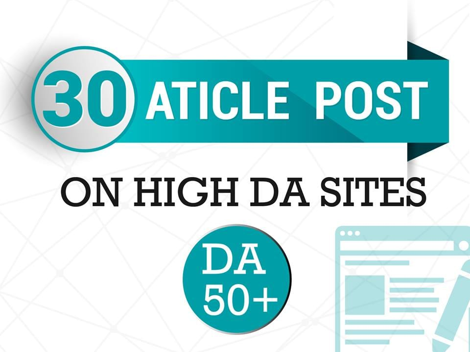 Do 30 Article Submission On High DA PA