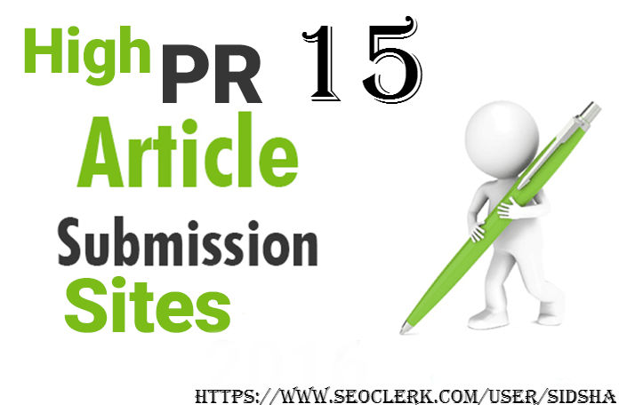 Do 15 Article Submission On High DA PA