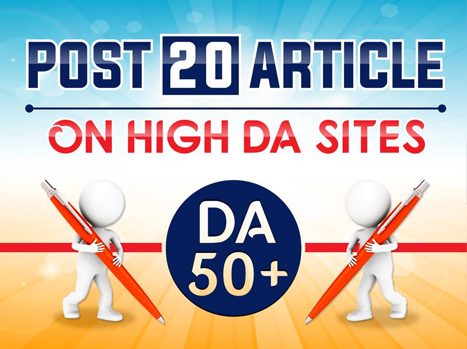 Do Post 20 Article On High DA50+ Sites