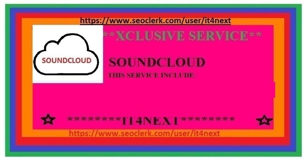 get 150K plays 500 soundcloud likes  50 soundcloud comments 50 repost