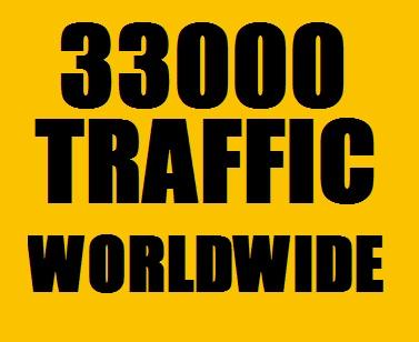 33000 Web Traffic Worldwide in 5 Days