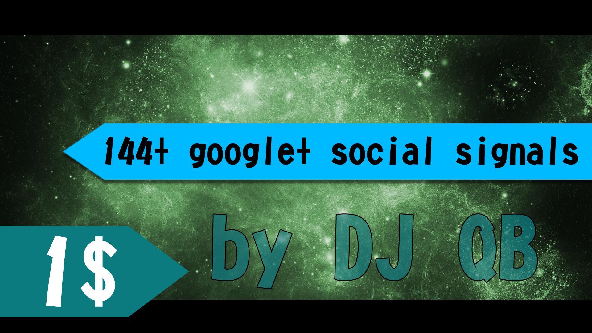 141 - 151 google social signals