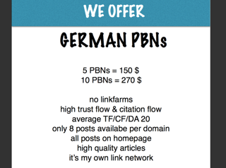 German PBN Backlinks - deutsche PBN´ s