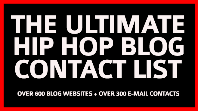 The Ultimate Hip Hop Blog Contact List