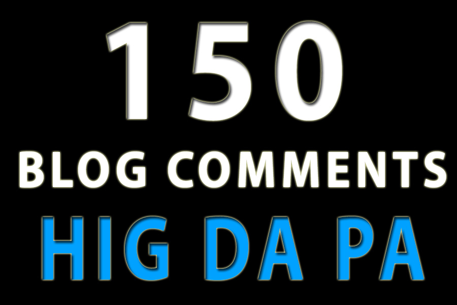 150 blog comments high da pa