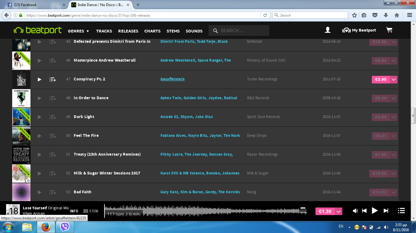 Chart your track on Beatport/Traxsource/Trackitdown/Juno