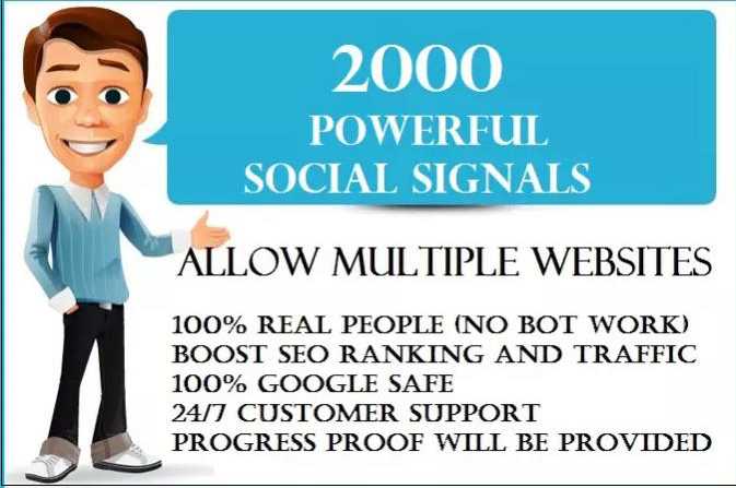 2,000 PR9 Social Signals Monster Pack from the BEST Social Media website