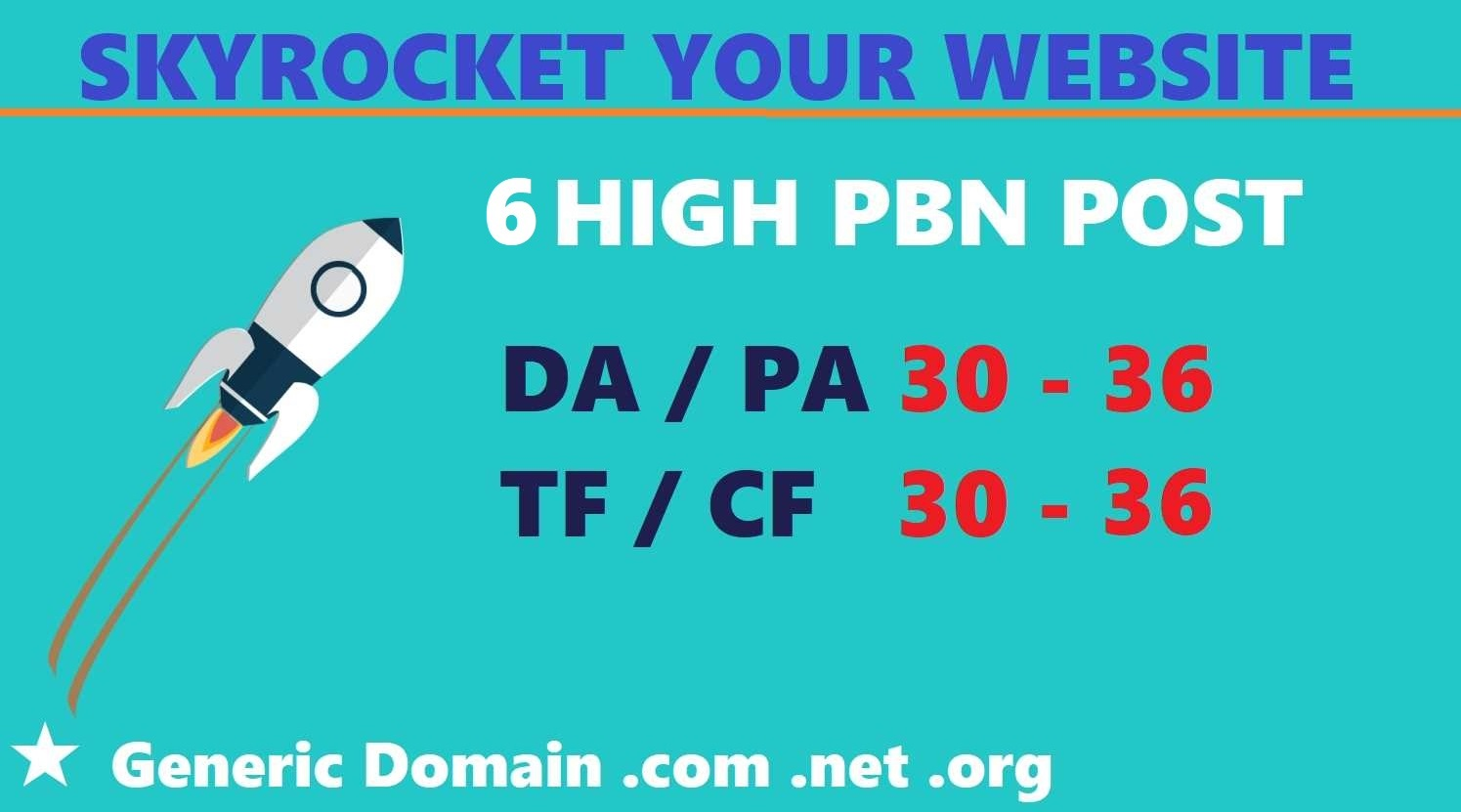 6 High PBN Post DA PA TF CF 25 - 35+ Dofollow Homepage Links