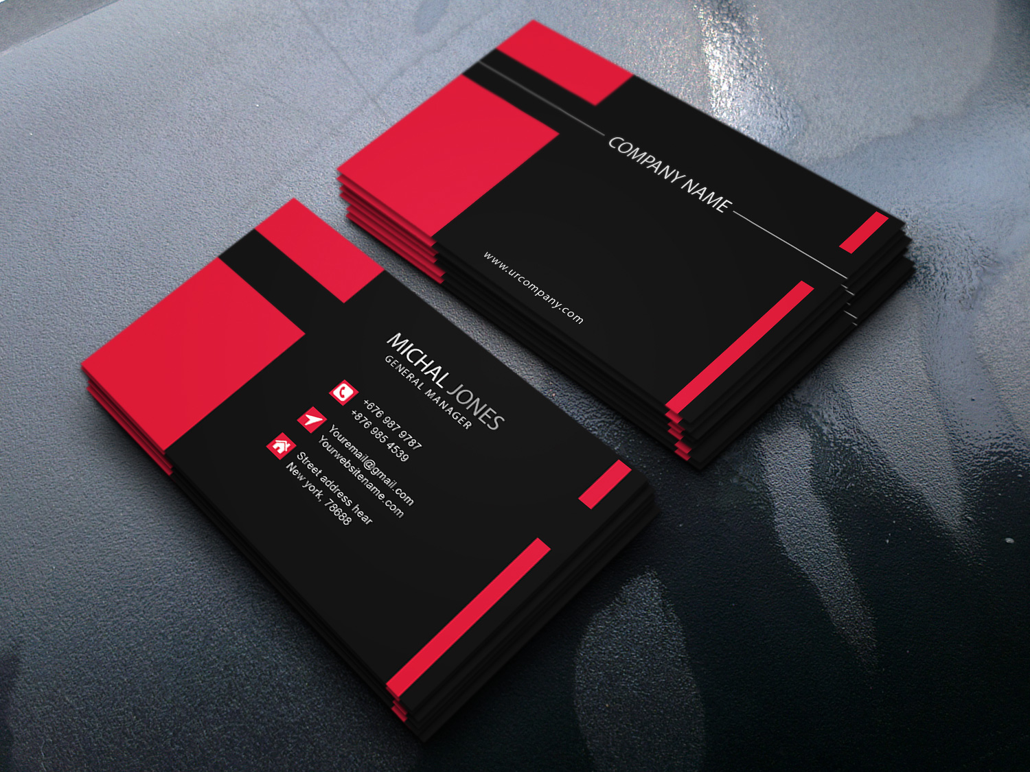 design 2 unique business card and letterhead