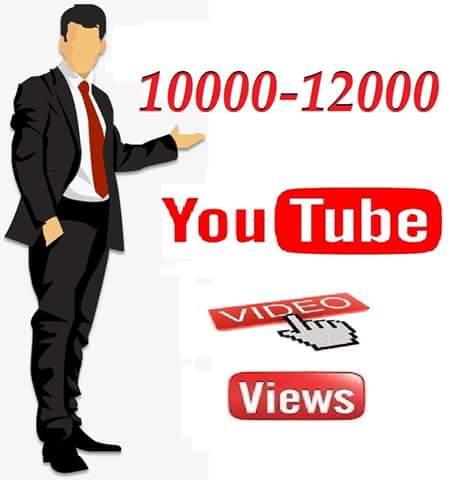 Limit Offer 10000-12000 Youtube  video   vie ws within 24 hours delivery