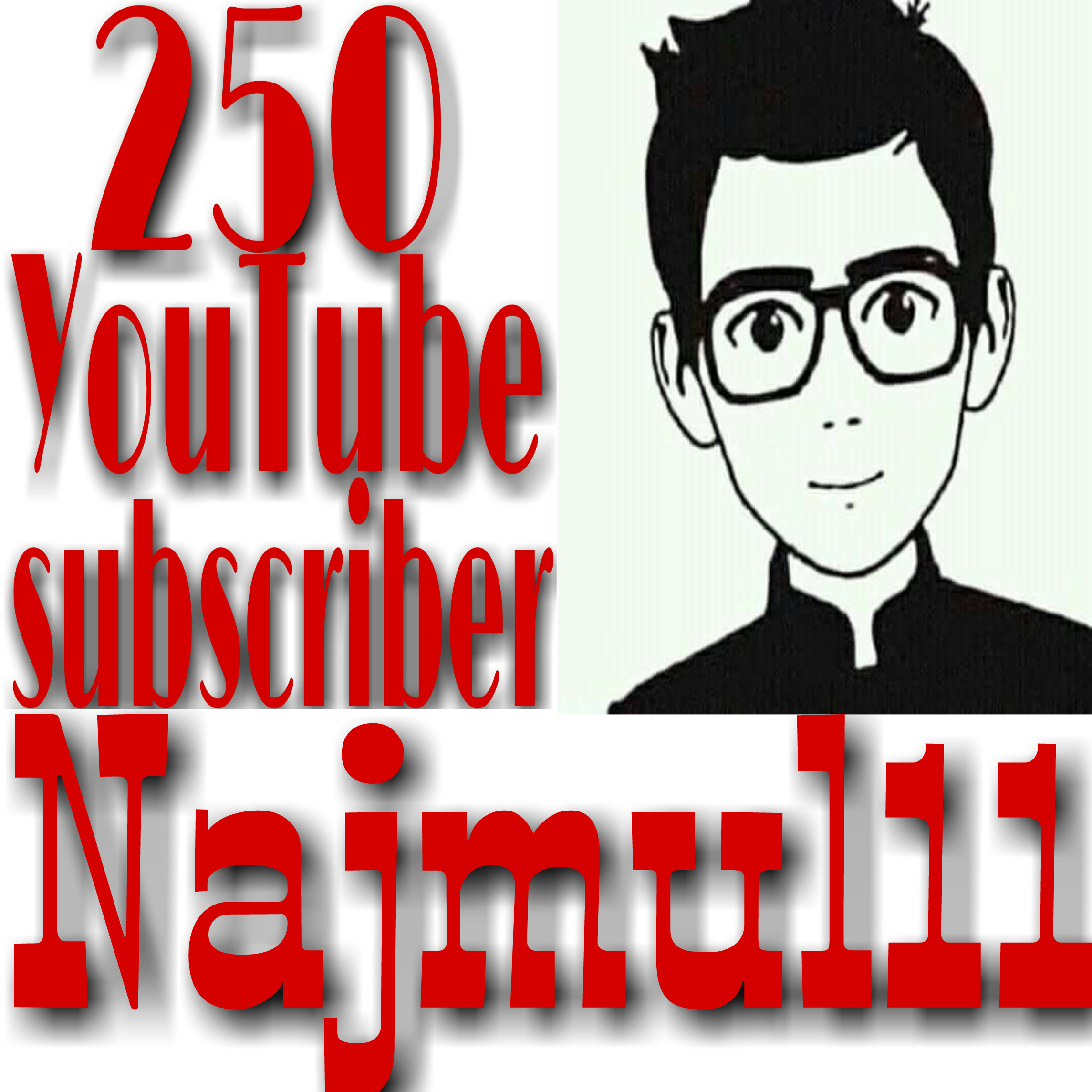 Non-Drop GUARANTEED 250+ YouTube channel subscriber just 3 hours complete