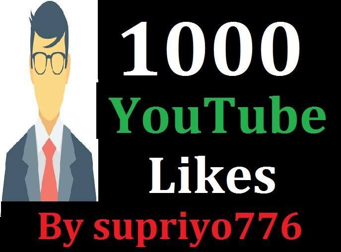 Instant 1000+ YT Likes Non Drop Guarantee