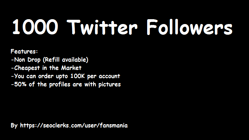 Get Instant and Safe 1000 Followers in your Account