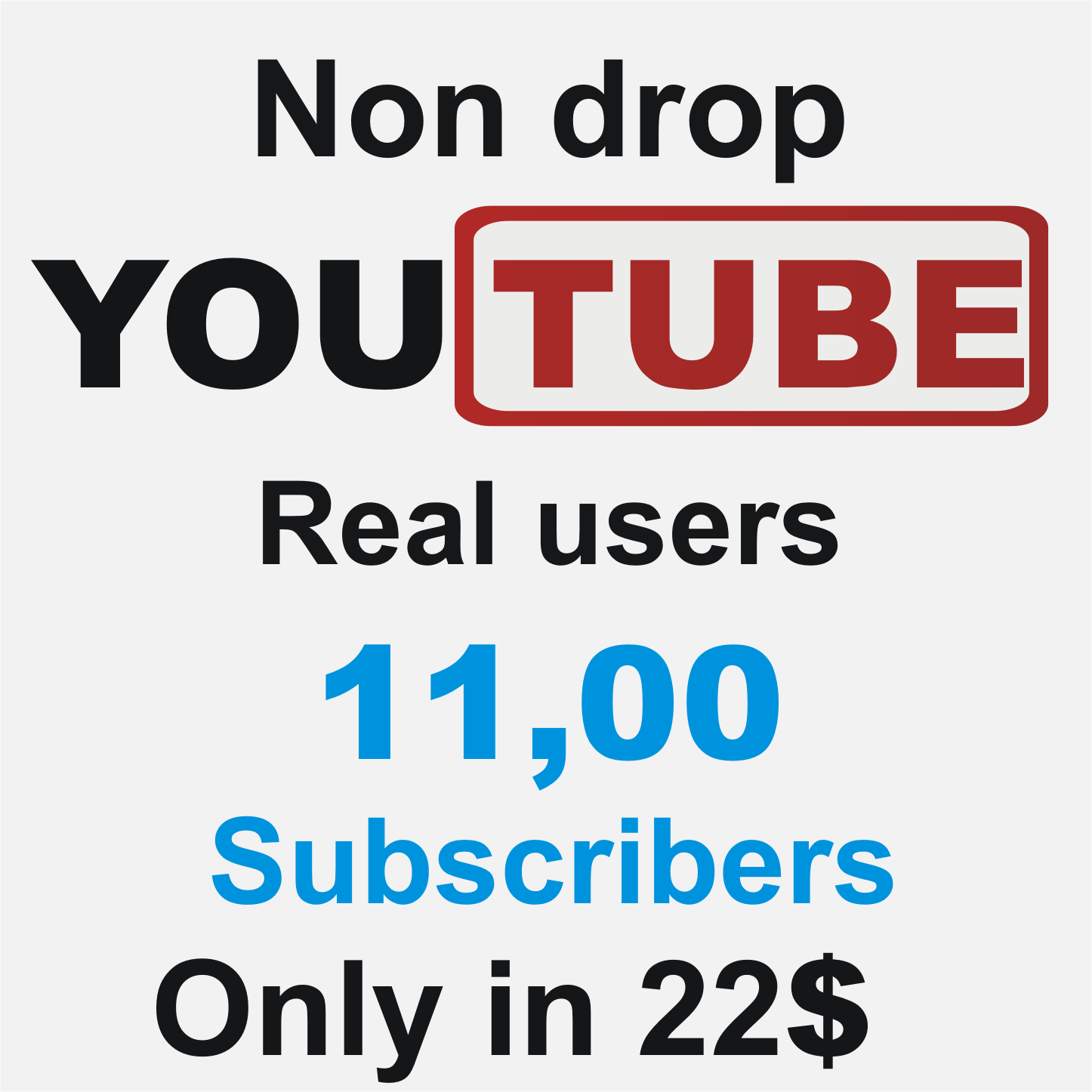 Add 1100 Real Non drop YouTube subscribers
