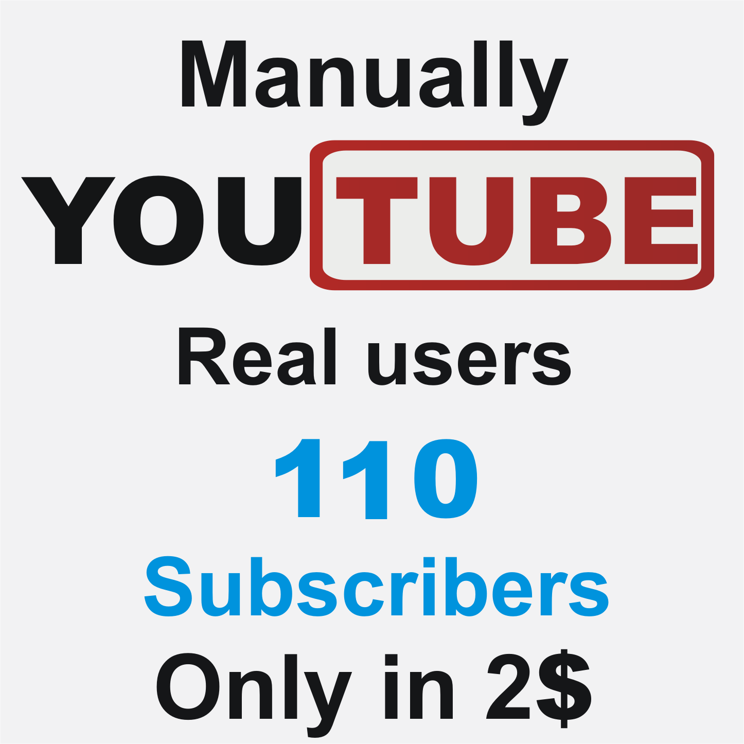 Add 110 Real Non Drop YouTube subscribers