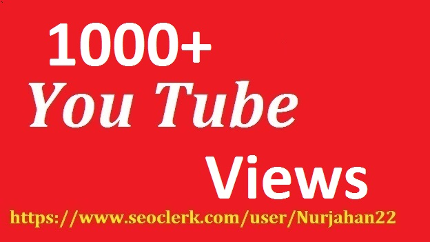 1000+ Real  Non Drop YouTube Views +50YouTube Likes Bonus 24-48 Hours In Complete