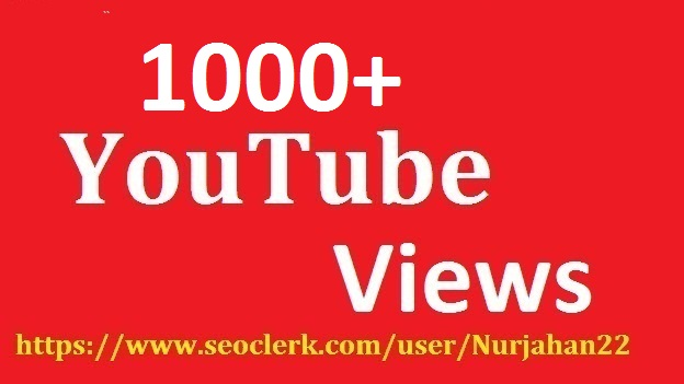 1000+ Real  Non Drop YouTube Views +55  YouTube Likes Bonus 12-24 Hours In Complete