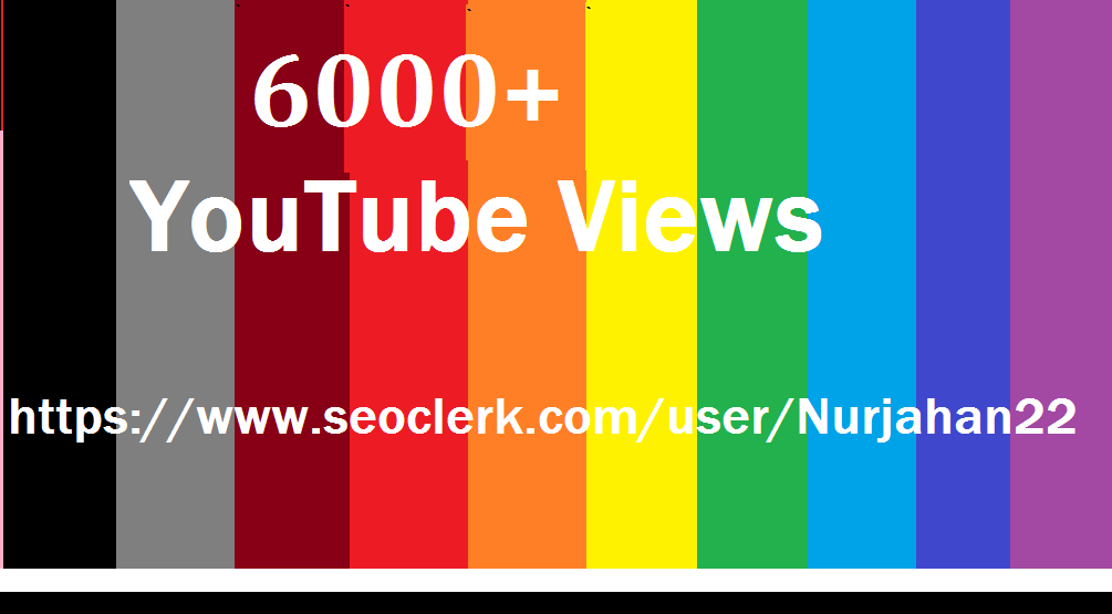 6000+ Real  Non Drop YouTube Views + 30 Bonus YouTube Likes 10-20 Hours In Complete