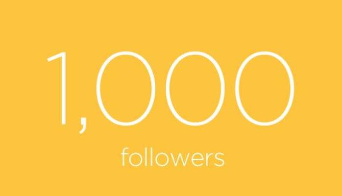 1,000 Instant Followers