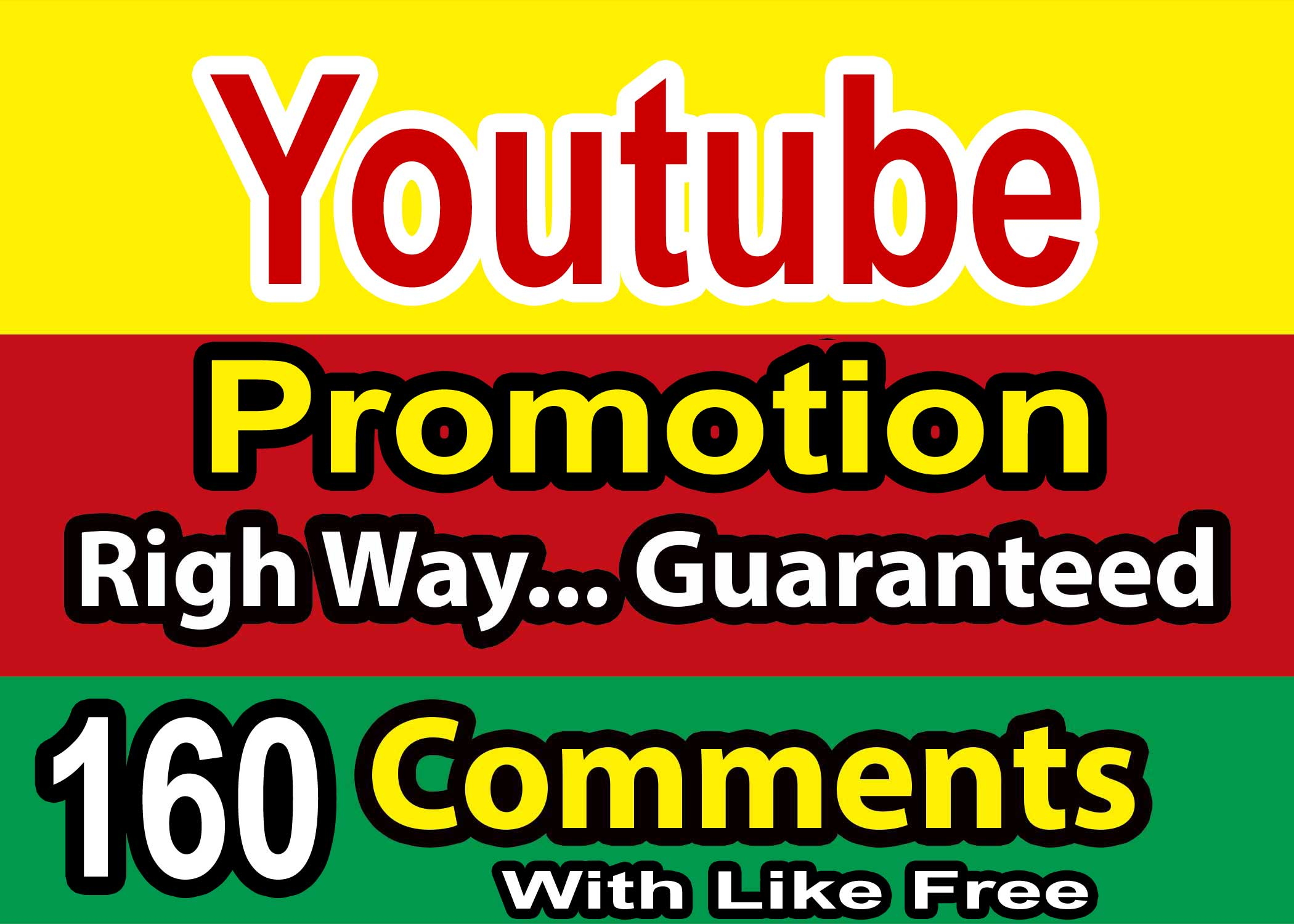 160 YouTube Custom Comments + Like From USA+England+Germany+France+Australia User minimum must 2 Link $