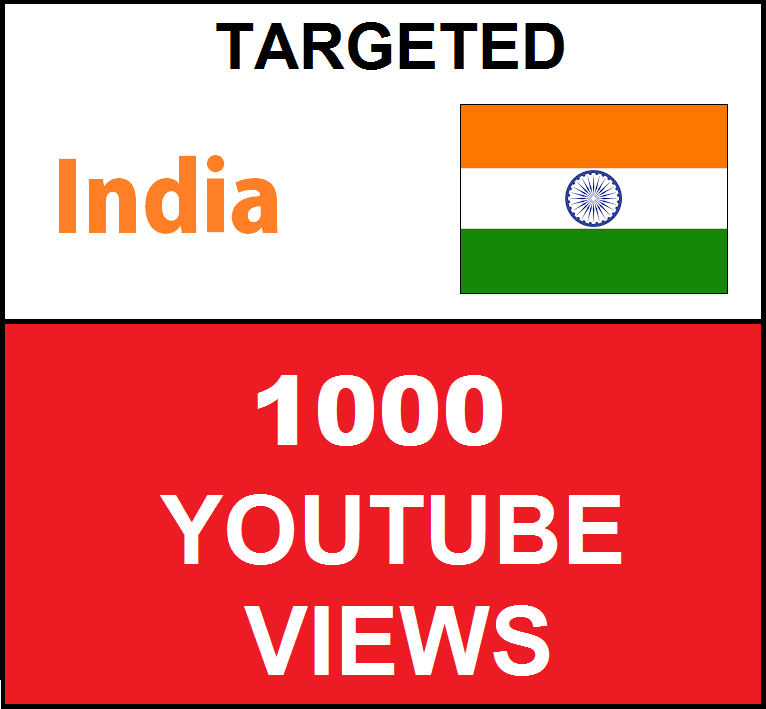 Added 1,000 INDIA Targeted Youtube Views