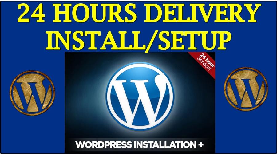 Wordpress Setup with installing theme and plugins