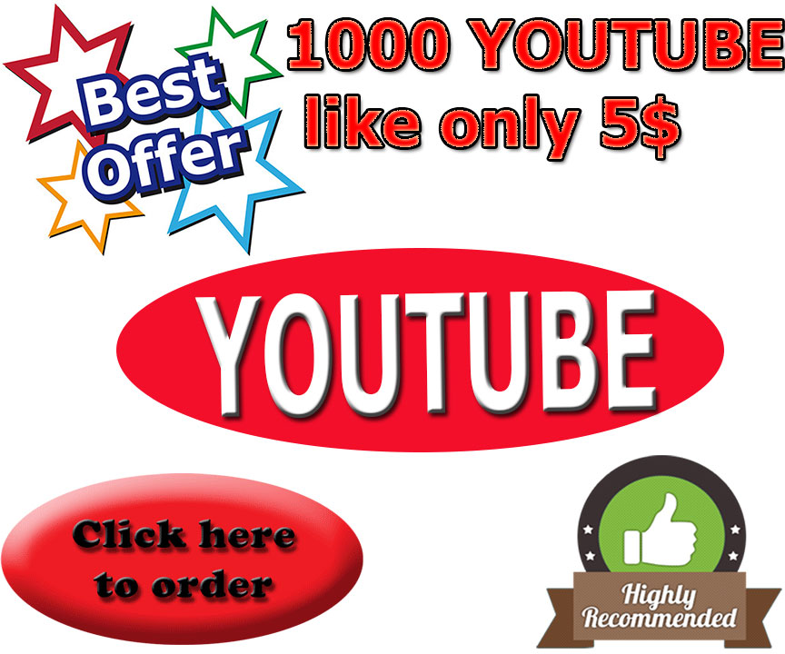 Limited Offer 1000+Youtube Video Likes fast, Non Drop, Safe
