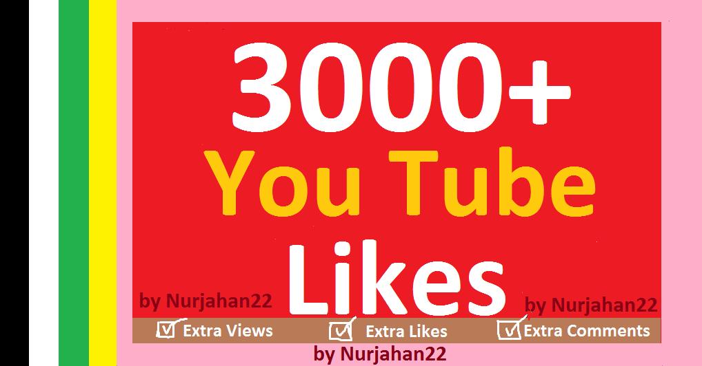 Add 3000+YouTube li-kes 12-24 Hours in Complete