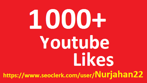Provide 1020+ High Quality YiouTube Lkes No Bots Use