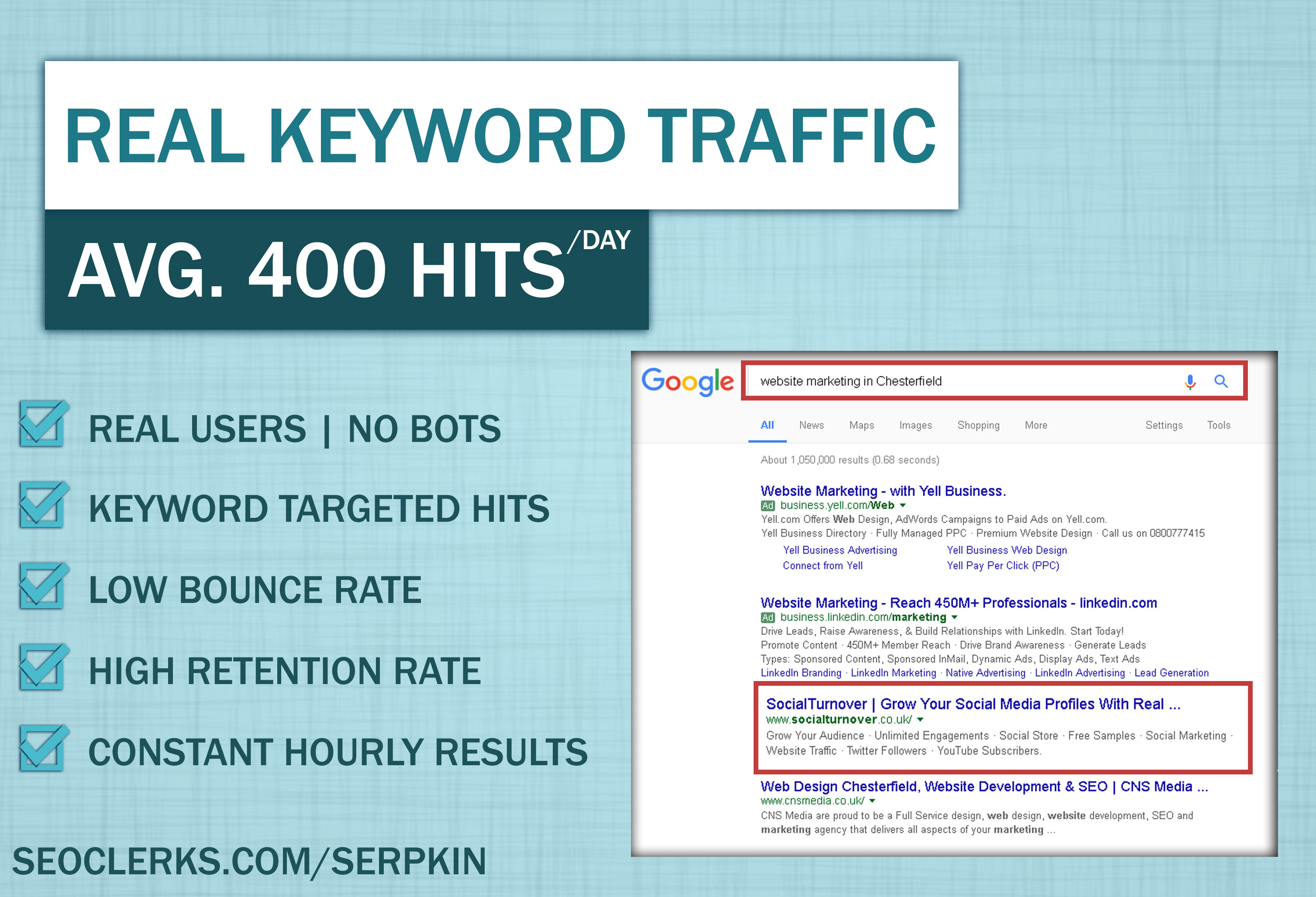 Keyword Targeted Traffic for 10 days