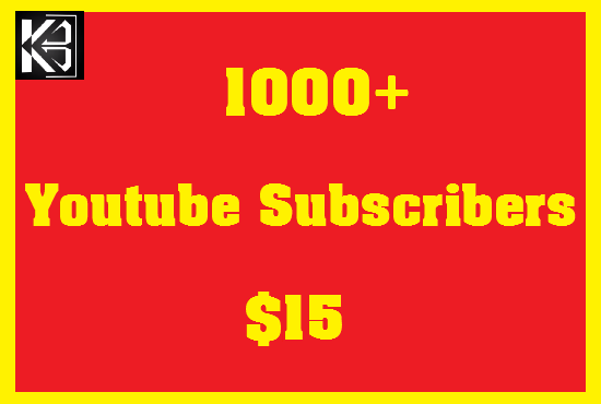 1000+ Youtube Subscribers High Quanlity Real & Non Drop