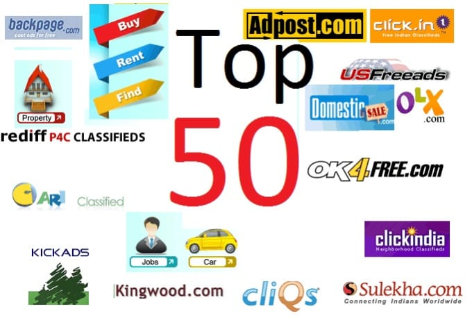 post your Ads on top 50 Classified websites