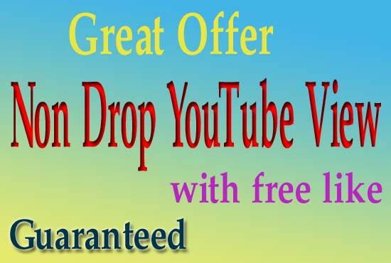 Give you 3000 YouTube VlEWS non drop