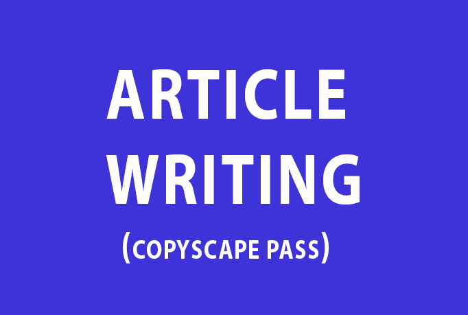 Write 2 Original, 500 Word Well Researched ARTICLES