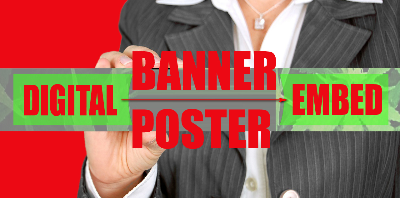 embed your business banner or digital poster in 100 web 2.0 blogs