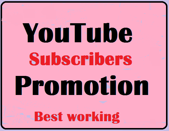 YouTube Account Promotion From World Wide Users