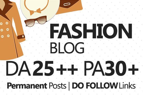 Write and do Guest Post in Fashion blog