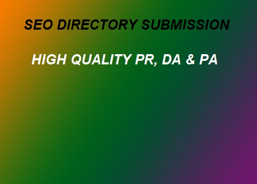 Buy 100 HQ Directory Submission with Domains Authority Sites