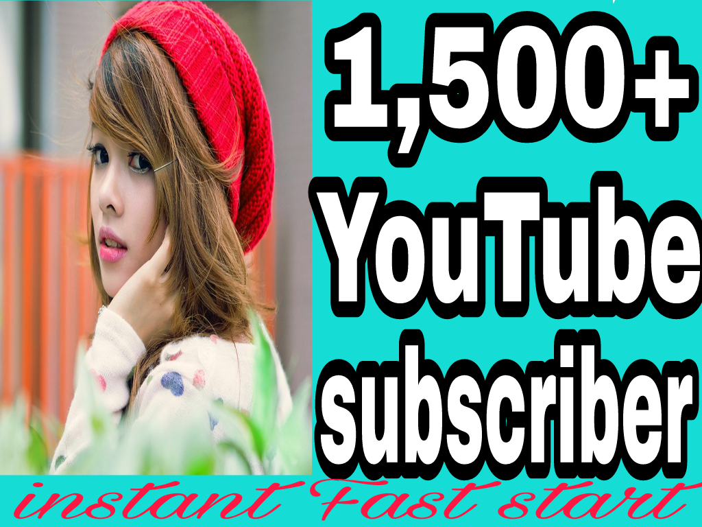 Guaranteed 1500+YT Channel subscribers or 5000+YT Likes 12/24 hours in complete