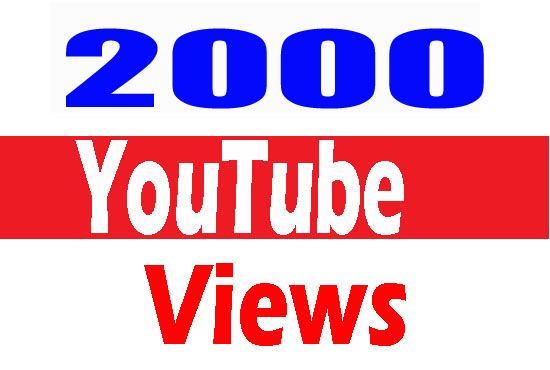 2000+ HIGH RETENTION YOUTUBE  VlEWS LIFE TIME GUARANTEE