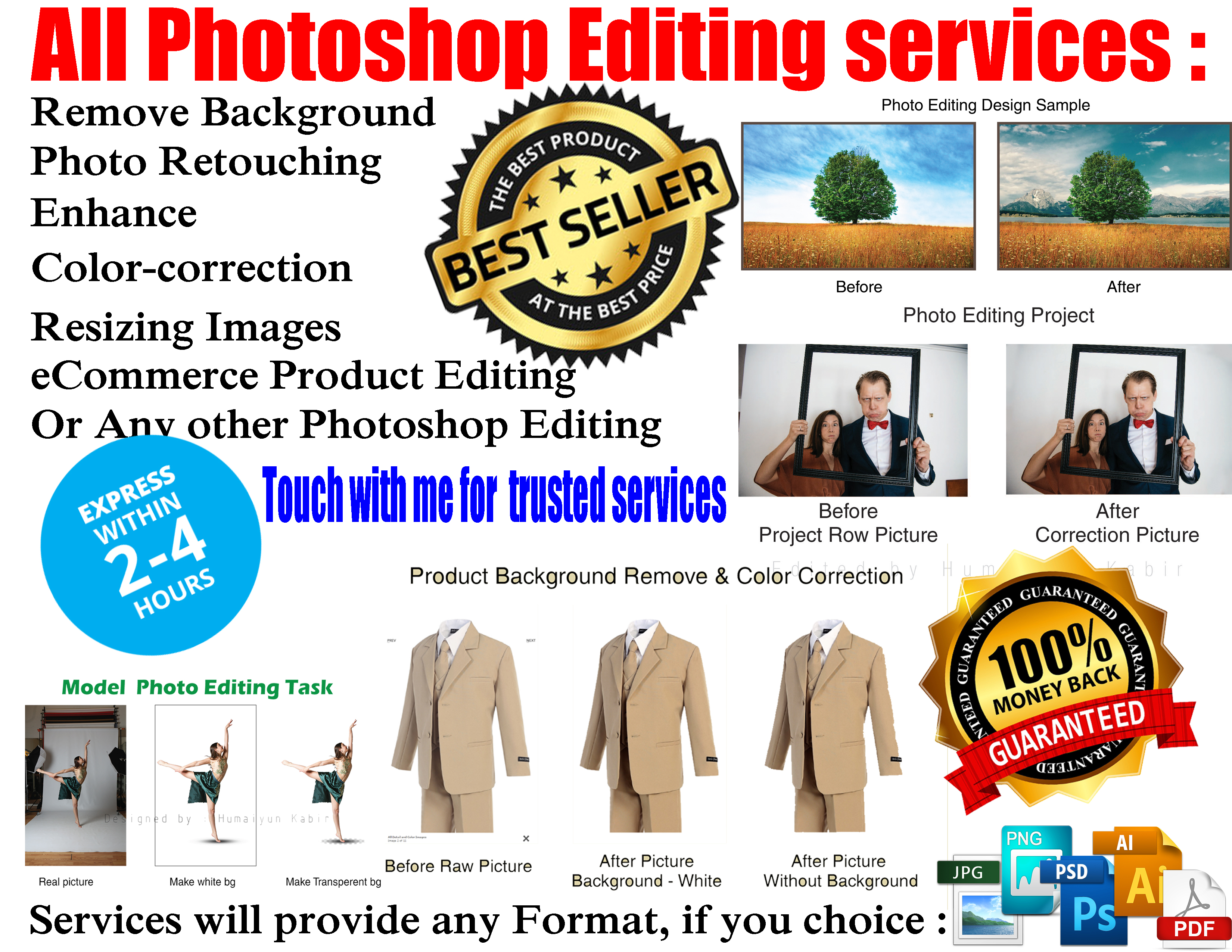 All photo editing work in cheap rate