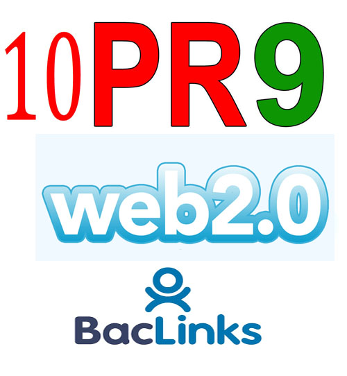 10 PR9 DO Follow Web2.0 Backlinks Less Then 12 Hours
