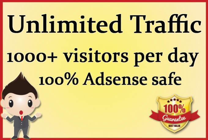 USA organic website traffic,Trackable with google adsense,