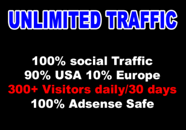 1 MONTH Targeted Website Traffic Social Visitors