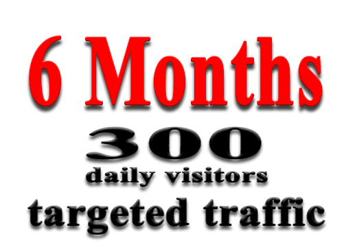 get 6 Months of Targeted Web Traffic