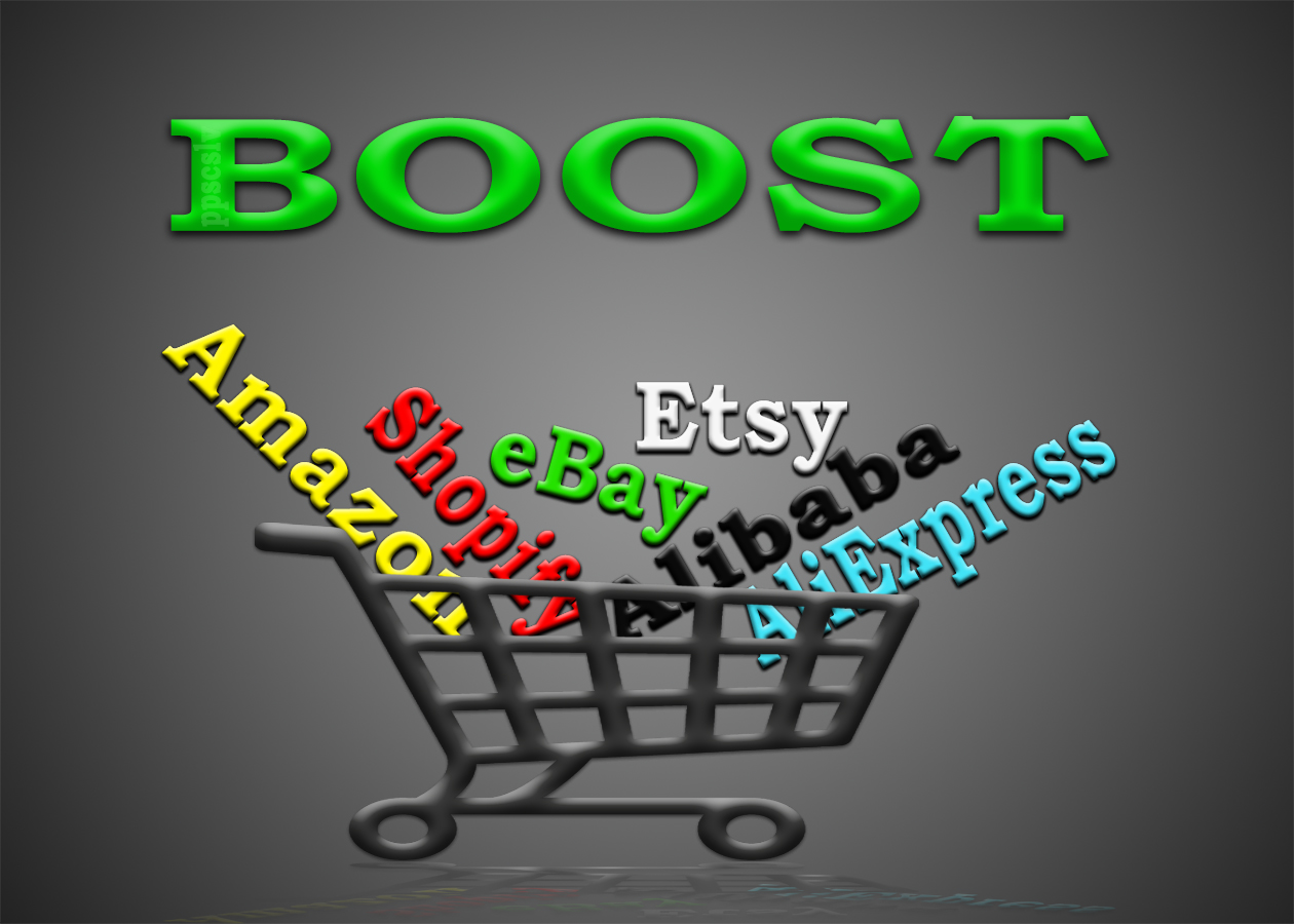 promote any Amazon,  eBay,  Etsy,  Alibaba,  AliExpress or any other e-commerce store