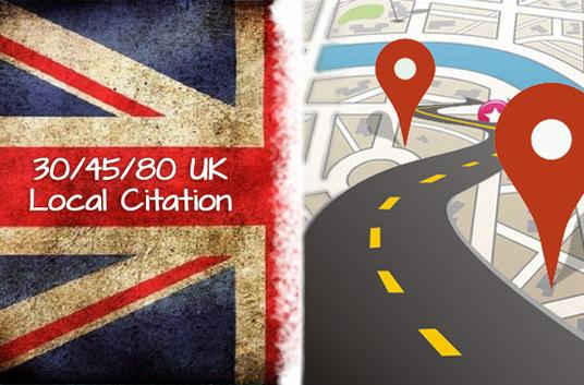 do 30-80 UK best local listing citation manually
